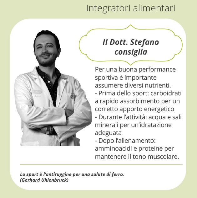 consigli Stefano integratori alimentari