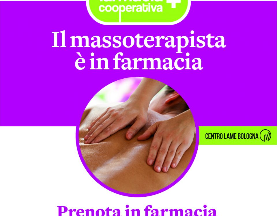 il massoterapista in farmacia